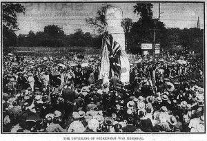 Beckenham War Memorial Unveiling